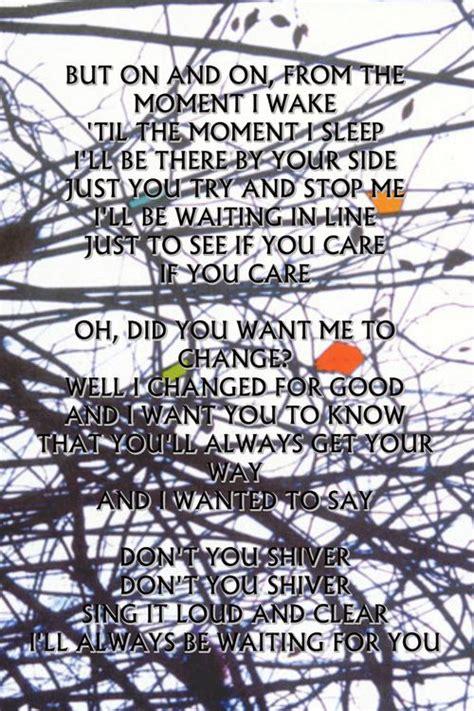 coldplay x y lyrics best 25 coldplay shiver lyrics ideas on pinterest