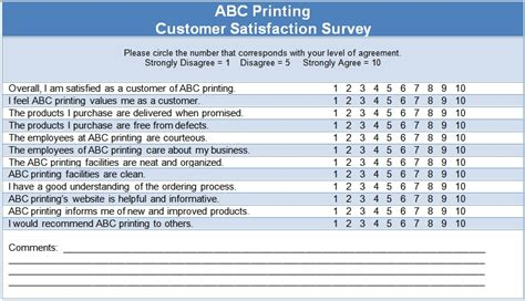 6 Sle Survey Templates Excel Pdf Formats Client Satisfaction Survey Template
