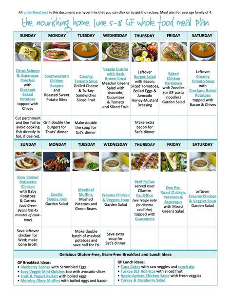 cooking light meal plan jun 4 bi weekly whole food meal plan for june 5 18 easy