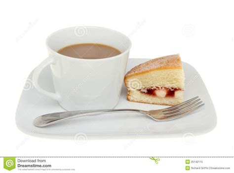 kuchen und kaffee kaffee und kuchen stockbild bild himbeere gabel