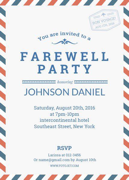 Template For Invitation Card For Farewell by Farewell Invitation Jpg 429 215 600 Farewell Invit 232
