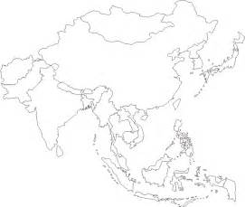 Printable Map Of Asia by Asia Map Blank Colouring Pages