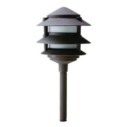 3 tier pagoda light led 3 tier pagoda light fixture with ground mount stake