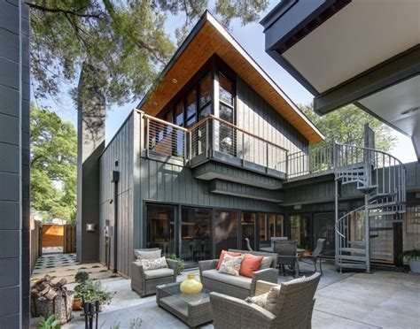 house exterior design modern home renovation half century rancher renovated into large modern 2 story