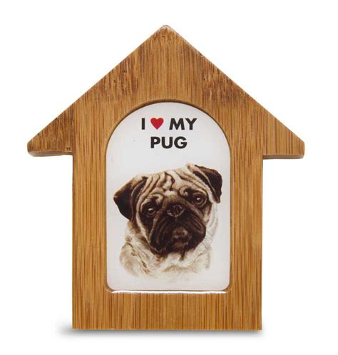 pug dog house pug wooden dog house magnet 3 5 x 3 in self standing