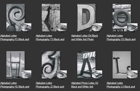 printable alphabet photography letters free 8 best images of free printable alphabet photography