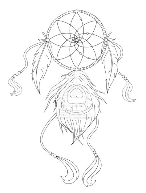 dream catcher tattoo outline dreamcatcher tattoo design by swagnerart on deviantart