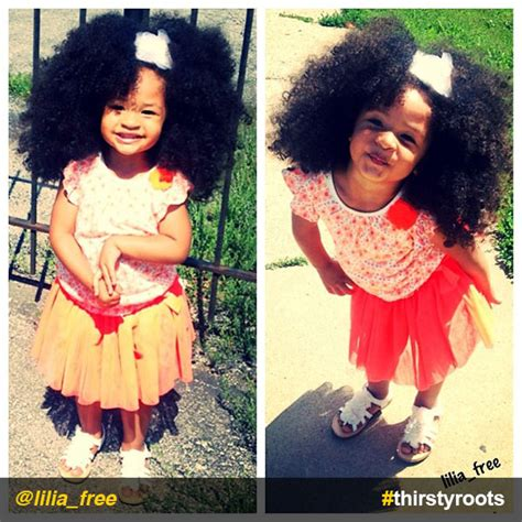 black doll with big afro instafeature big curly hair lilia free