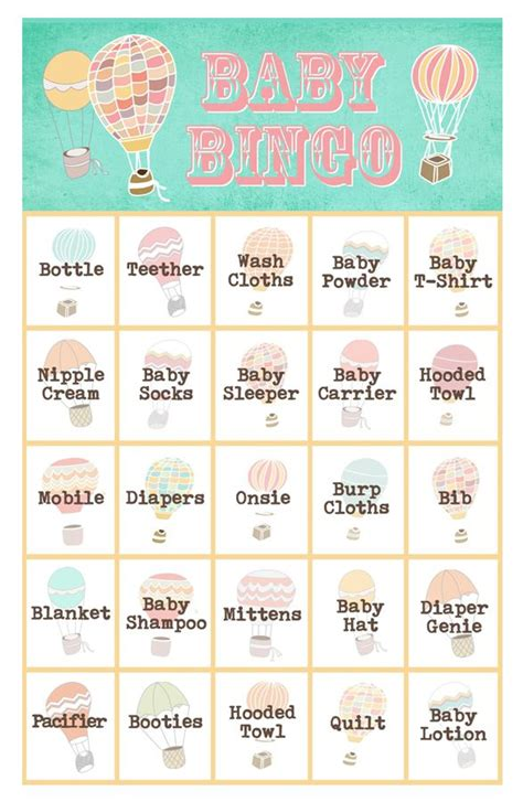 Unique Gifts For Mom by 29 Sets Of Free Baby Shower Bingo Cards