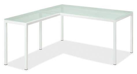 room and board desk l pratt l shaped desks room board frosted glass 60x30