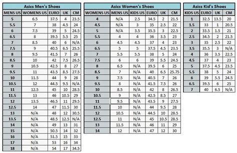 asics shoe size chart asics shoe size chart 28 images dsrv66bx uk asics size