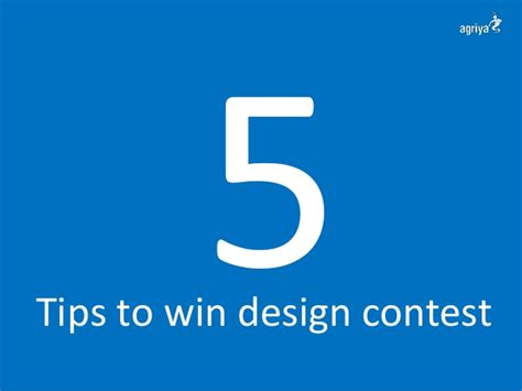 Design Contest Tips | 5 tips to win design contest