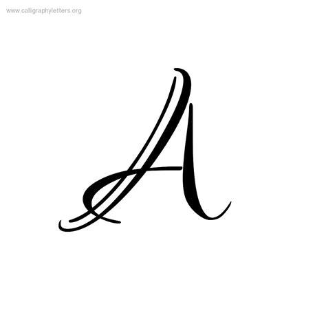 lettere al calligraphy letter a clipart best