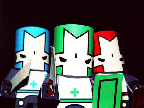 Castle Crashers Papercraft - castle crasher papercraft by rubberduckydestiny on deviantart