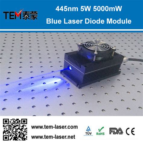 high power laser diode blue high power 445nm 450nm 5w 5000mw blue laser diode module ttl analog 0 30khz tec cooling 85