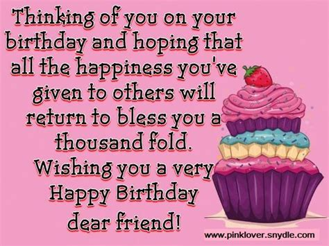 Wishing A Friend Happy Birthday On Happy Birthday Wishes For A Friend Pink Lover