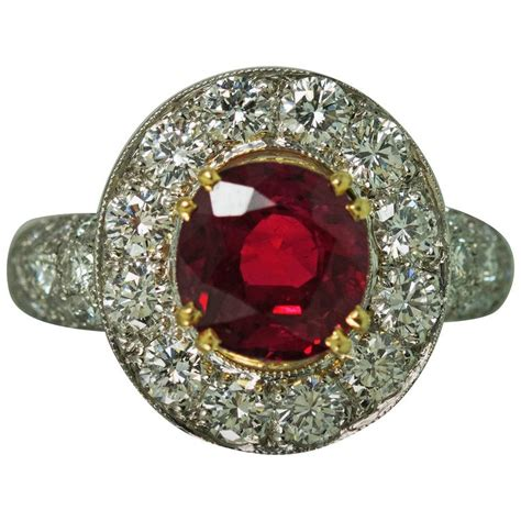 ruby platinum ring for sale at 1stdibs