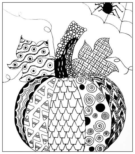 zentangle pumpkin printable halloween simple pumkin drawing halloween coloring