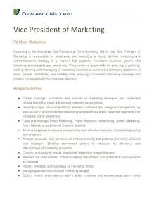 Vice President Of Sales And Marketing Description by Vp Marketing Description More Information
