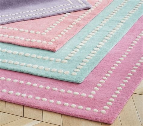 pottery barn kid rugs pearl dot border rug pottery barn