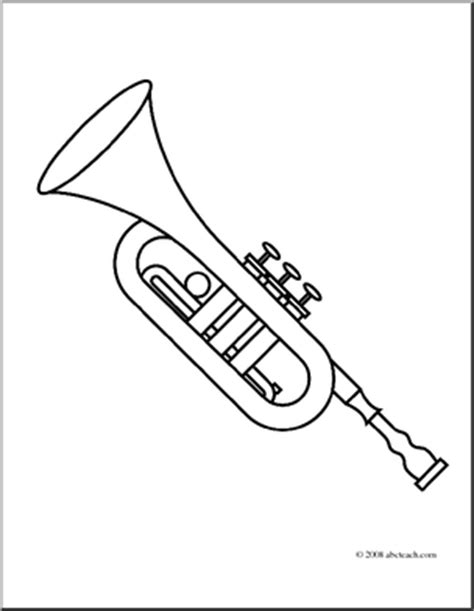 Cp Terompet trumpet printable coloring pages