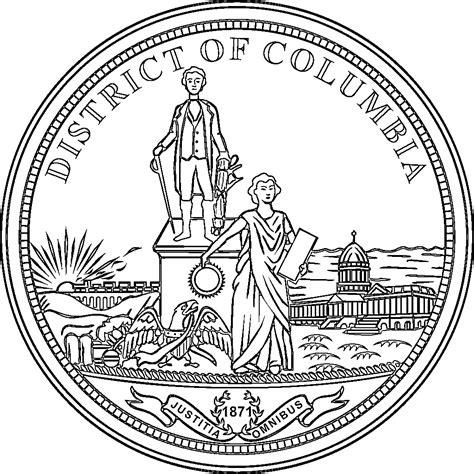 washington dc map symbol district of columbia flags emblems symbols outline maps