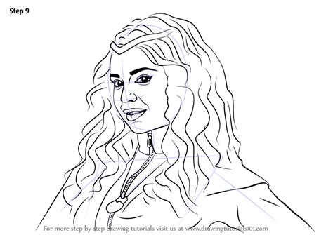 coloring pages of evie from descendants learn how to draw evie from descendants descendants step