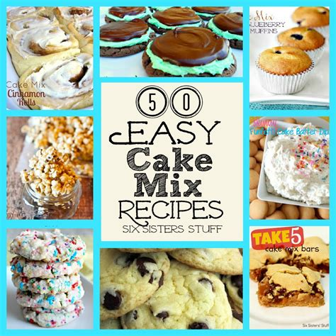 cake mix 50 easy cake mix recipes six stuff