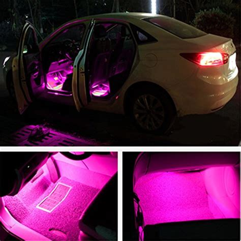 led light strips for car interior car interior lights ej s car 4pcs 36 led dc 12v waterproof atmosphere neon lights