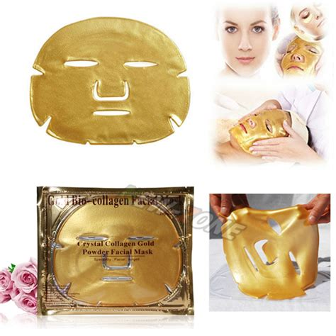 Gold Collagen Mask aliexpress buy 3pcs lot 24k gold bio collagen mask moisturzing anti aging
