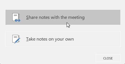 use shared and private notes in a skype for business