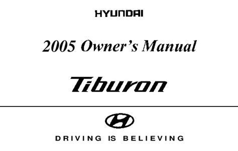 auto repair manual online 2005 hyundai tiburon engine control 2005 hyundai tiburon owners manual