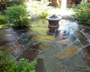 slate flagstone patio priest lake idaho woodstone