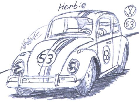 Disney S Herbie By Agentc 24 On Deviantart Herbie Coloring Pages