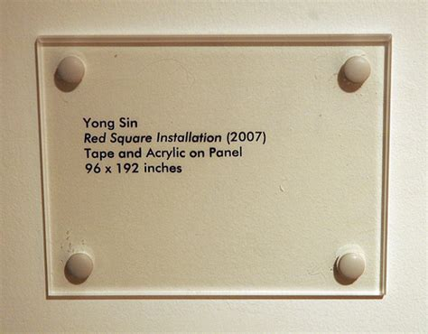 Beschriftung Museum by Yong Square Installation Label Torrance