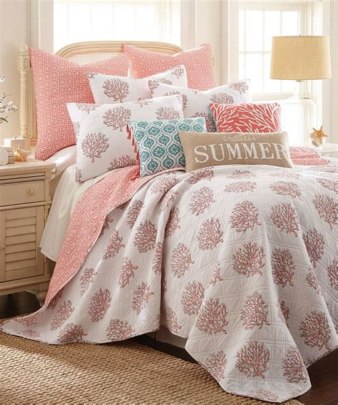 coastal living bedding endless summer coral bedding http www completely