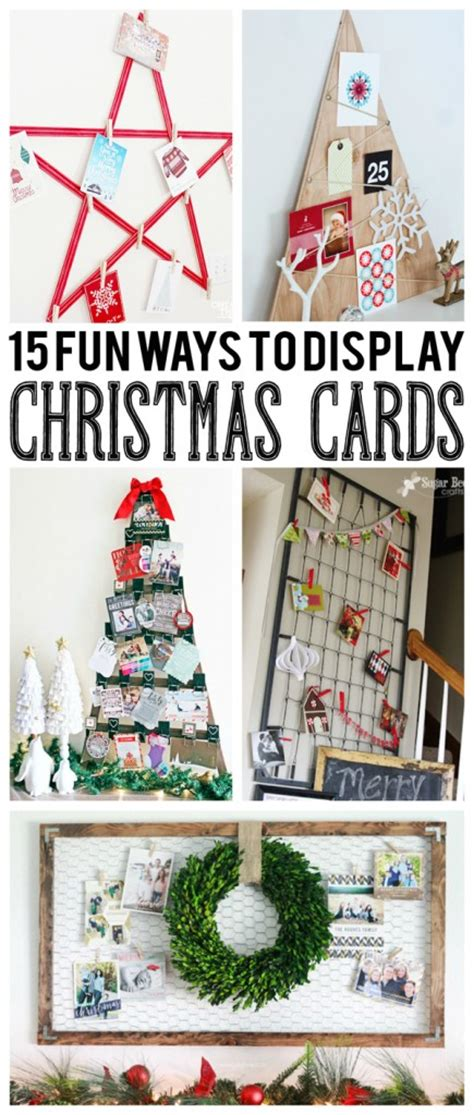 how to display christmas cards 15 fun ways to display christmas cards eighteen25