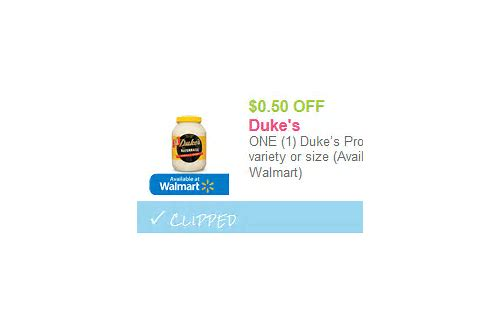 coupons for duke's mayonnaise