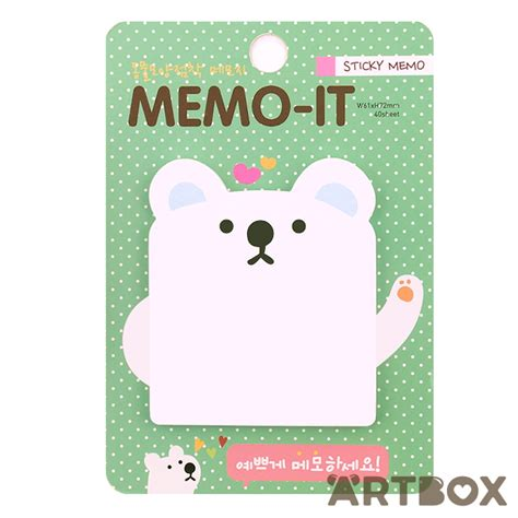 Stick Note Memo Cookys buy kawaii memo it animal sticky notes polar at artbox