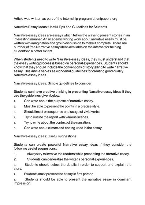 Tips For Writing A Narrative Essay by Calam 233 O Narrative Essay Ideas Useful Tips And Guidelines For Students