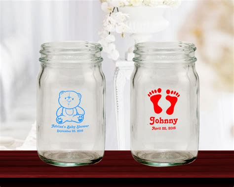 Jars For Baby Shower by Baby Shower Personalized Mini Jars 4 Oz