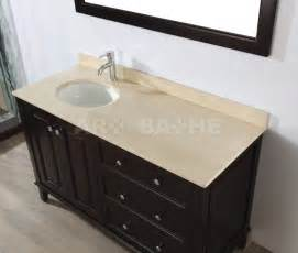48 Inch Bathroom Vanity With Top And Sink by Left Offset Bathroom Vanity With Sink Lily 55 Chai