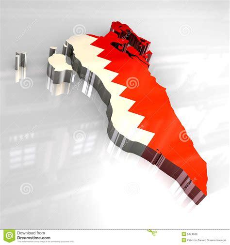 design grafix bahrain 3d flag map of bahrain stock photo image 5174530