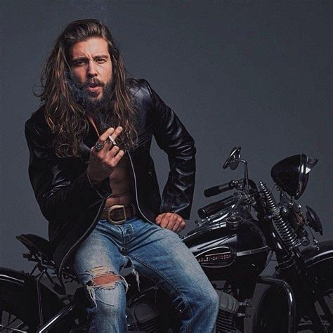 long hairstyles for a biker man 17 best images about long hair on pinterest models long