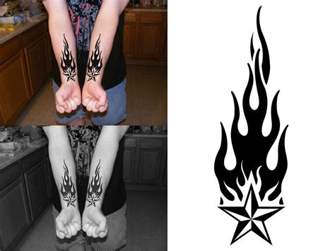 stars and flames tattoo designs images designs