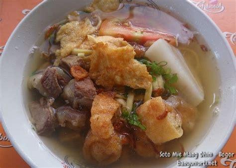 kuliner bogor soto mie mang ohim wisata kuliner indonesia