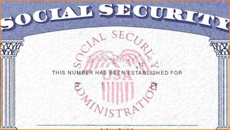 Social Security Card Template Incheonfair Blank Social Security Card Template