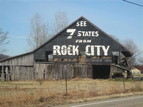 See Rock City Barns see 7 states from rock city barn