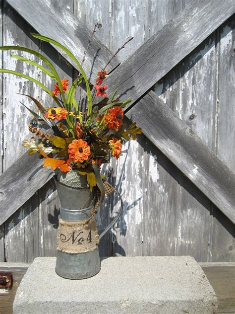 fall decorations for sale sale rustic milkcan with mini mums fall decor autumn