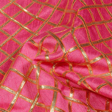 buy pattern fabric online buy pink and golden gota patti square pattern brocade silk